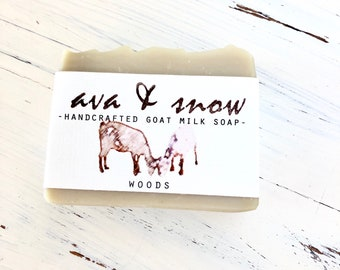 Handcrafted Goat's Milk Soap, Woods, Fir Needle, Cedarwood, All Natural