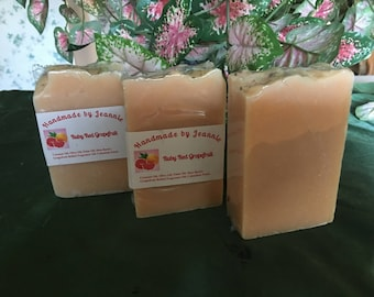 Hand Made Soap - Ruby Red Grapefruit