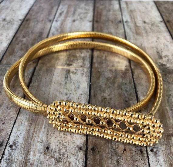 Vintage accessocraft snake gold tone belt , vintag