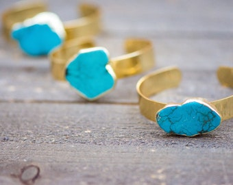 Turquoise Cuff Bracelet,Turquoise Bracelet,Turquoise Jewelry,Turquoise,Multi gemstone bracelet,Turquoise Cuff,Layering cuff,Gold cuff,Cuff