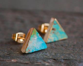 Turquoise Stud Earrings,Turquoise Earrings,Turquoise studs,Turquoise Post Earrings,Turquoise Jewelry,Stone Stud, Turquoise Stud,Blue studs