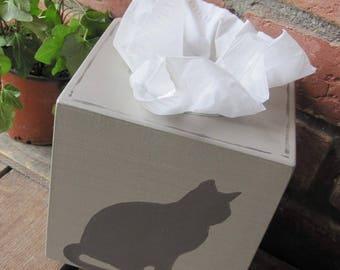 Cat tissue box