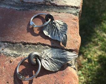 Hand Forged Leaf Keychain