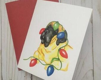 English Mastiff Holiday Card