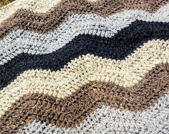 Crochet Chevron Afghan/ Crochet Chevron Throw/Crochet Chevron Blanket
