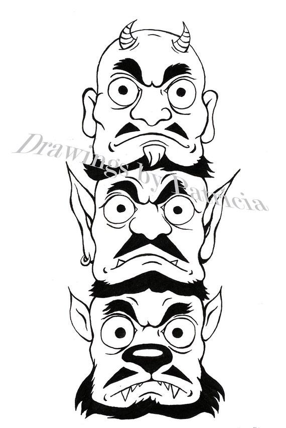 Halloween-Zeichnungen basierend auf Studio Ghibli-Filme 5 | Etsy
