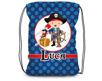 Personalised Swimming Bag Your Name *Karate Motif Kids School Bag Pump Sack