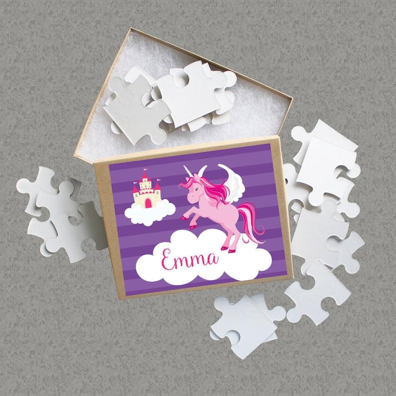 Pink Magical Unicorn Puzzle Kids Name Gift Fairytale Cloud Castle Purple Unicorn Personalized Puzzle Unicorn Puzzle You Pick Unicorn