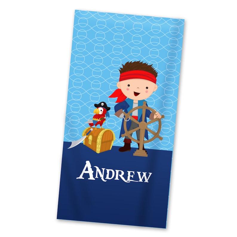 Personalized Pirate Beach Towel