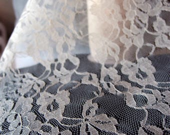 """14"""" wide x 10 yards Floral Pattern Lace Chantilly trim for bridal, baby, Scalloped Table Runner Ribbon - Choose Colors * free shipping *"""