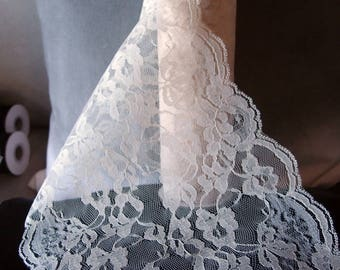 """9"""" wide x 10 yards Floral Pattern Lace Chantilly trim for bridal, baby, Table Runner Ribbon - Choose Colors * free shipping *"""