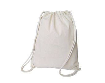 Natural Thick Cotton Muslin Gift Bags with Drawstrings, 12-Pack, 12-Pack - Choose color/Size * free shipping *