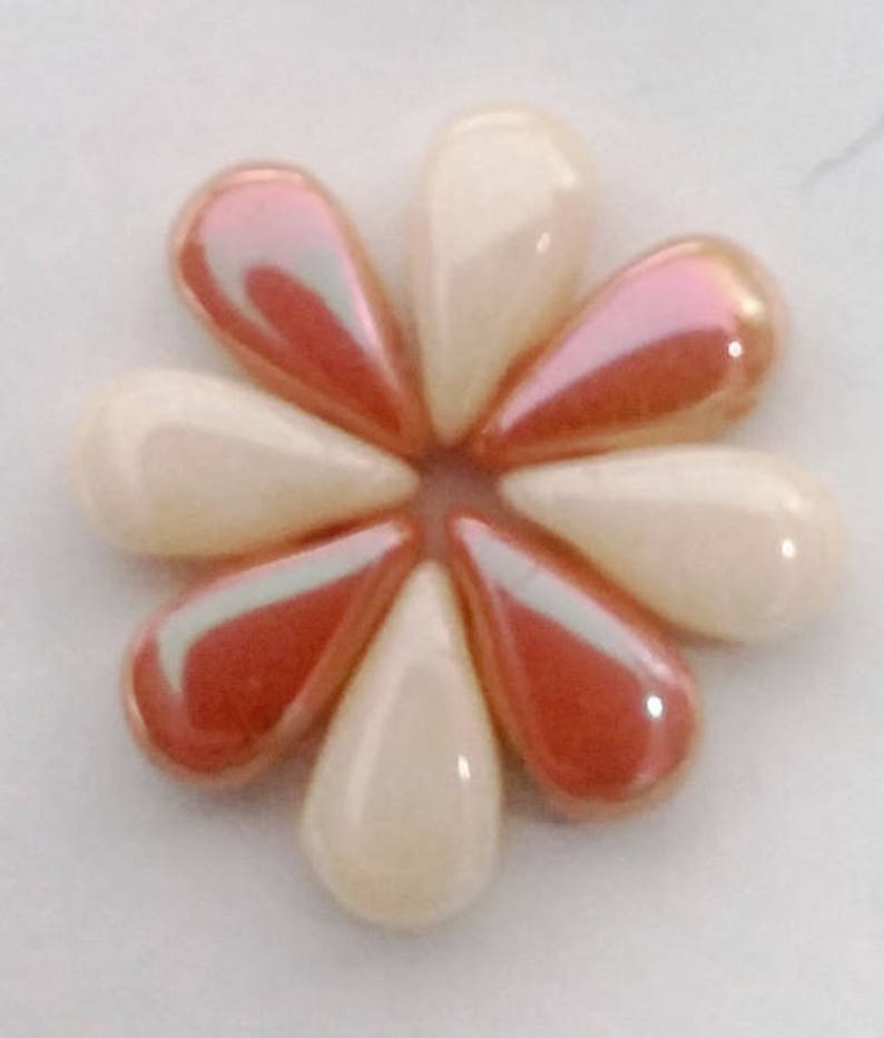 29123 qty 50 2 hole Czech bead 3 x 6 mm DropDuo Full Apricot Medium