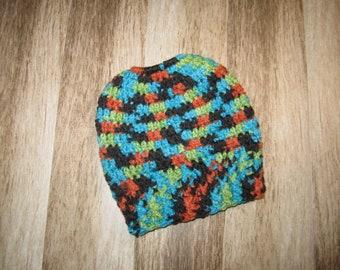 RTS   bonnet queue de cheval   Messy Bun bonnet   adulte   enfant   Messy  Bun chapeau au Crochet   élastique Top Bun Beanie 82321fea4c9