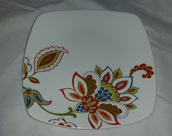 "222 Fifth PTS International Jacobean Trail Fine China 6"" Appetizer Plate"