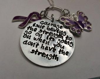 Fibromyalgia Courage Necklace