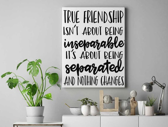 Friendship Sign - Friendship Quote On Canvas - Gift for Friend - Canvas  Quotes - Custom Quotes - Personalized Quotes - Quote Art - Handmade