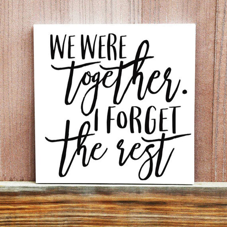 We Were Together Sign Best Day Ever Canvas Wedding Gift Etsy
