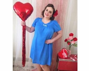 0dd9b3dc60 BRINKE - vintage royal blue nightgown