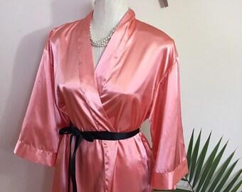 423f1b6fa6 MAXINE - vintage peach satin robe