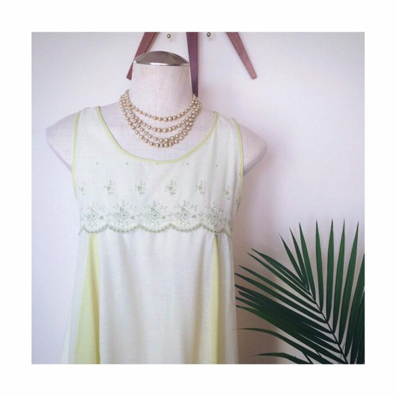 996bb3c7cdc MILLICENT vintage peignoir green cotton nightgown delicate