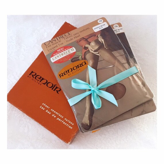 VINTAGE RENORA STOCKINGS - Giltex thigh high hosie