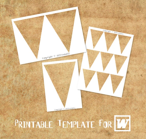Microsoft word compatible printable template triangle bunting etsy image 0 maxwellsz