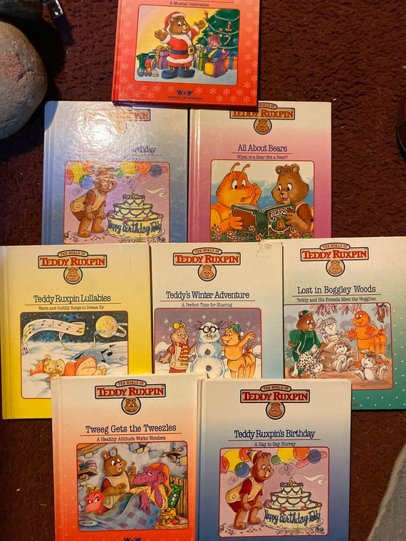 Lot of 8 Teddy Ruxpin children's books