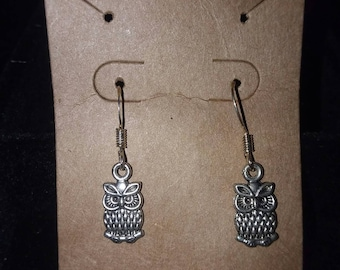 Tiny Owls Dangle Earrings