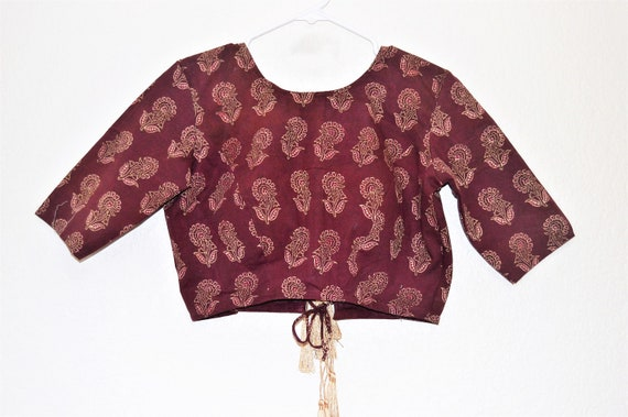 Saree Blouse Womens Saree Blouse Designer Blouse Maroon Red Saree Blouse Back Tying Blouse Lehenga Choli Choli Blouse Crop Top Iwowd