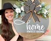 Front Door Decor Front Door Wreath Home Sweet Home Door Hanger Door Wreath Housewarming Gift Home Decor