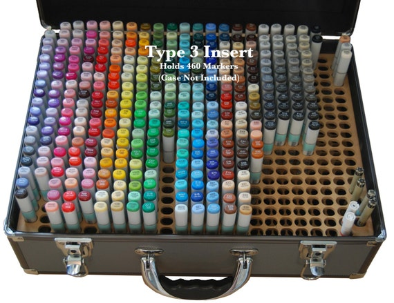 6b352a8e2916 Copic Marker Storage TYPE 3 Organizer for Copic Art Carrying Case (Insert  Only)