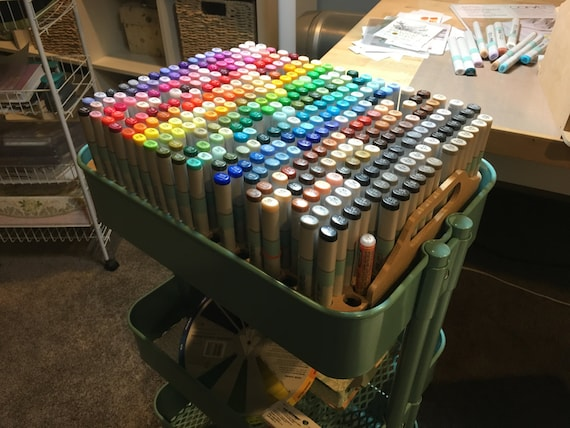 Copic Sketch Marker Storage For IKEA Raskog Cart IKEA Cart | Etsy