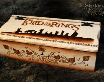 The Lord of the Rings Pyrography Box