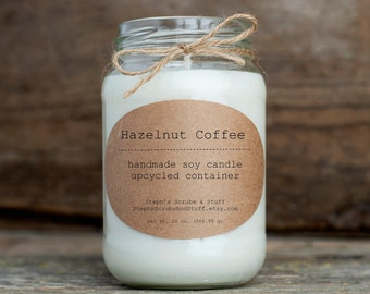 Coffee Scented Soy Candle, Hazelnut Coffee, Coffee Lover Gift, Coffee Cup Candle, Coffee Mug Candle, Coffee Gift, Coffee Candle, Soy Candle