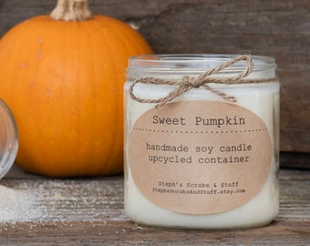 Pumpkin Spice Soy Candle, Pumpkin Candle Soy, Soy Candle, Fall Decor, Fall Candle, Autumn Candle, Holiday Candle, Pumpkin Spice Latte