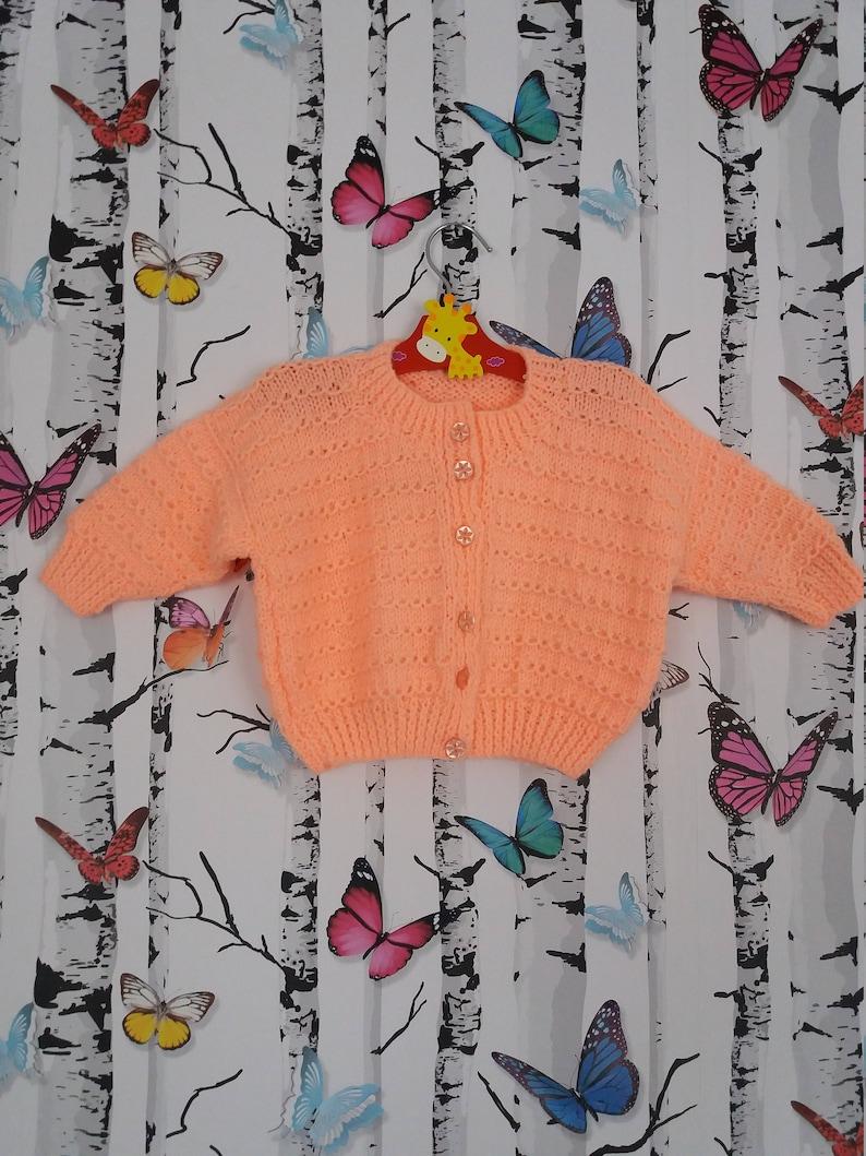 f6aae4037 Peach Cardigan 1 2 Year Old Knitted Cardigan Girls