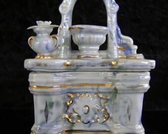 Miniature Agate Glass Dresser