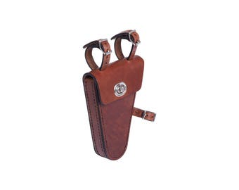 Small bike bag made of genuine cowhide leather wedge-shaped