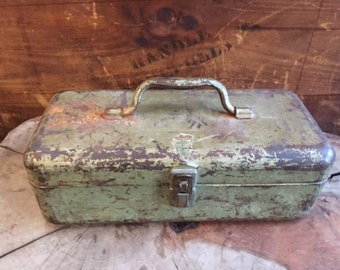 Vintage Green Tool Box