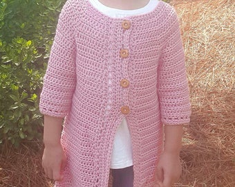 Cairbre Crochet Wool Cardigan - Children's sizes - Made to order