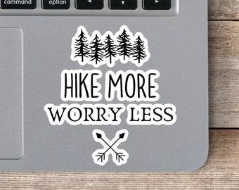 Hiking Vinyl Sticker