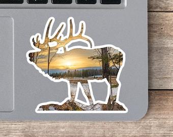 Woodland Elk Sticker