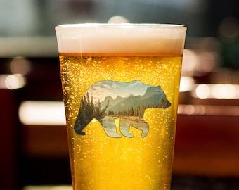 Bear Beer Glass