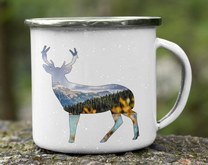 Mountain Deer Enamel Mug