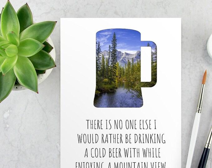 Mountain Anniversary Card