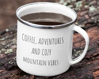 Mountain Mug, Enamel Camping Mug