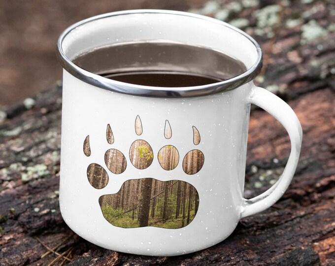 Bear Paw Enamel Camping Mug