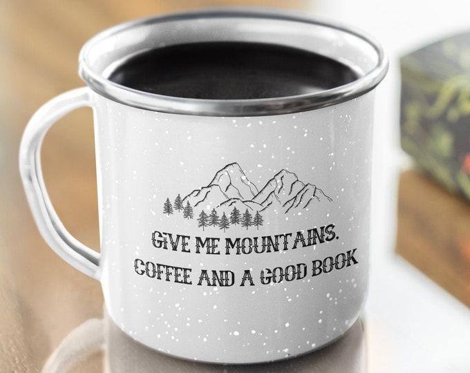 Mountain Enamel Camping Mug