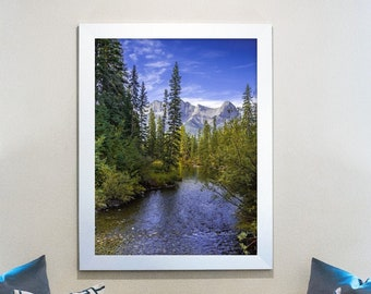 Mountain Forest Photography Print and Canvas Wall Art